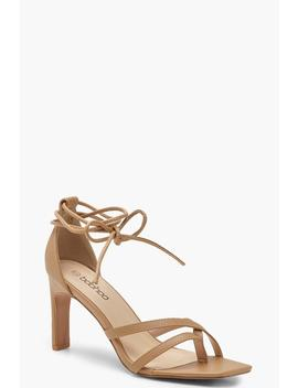 Square Toe Wrap Strap Heels by Boohoo