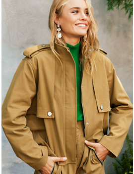 Jetstream Cropped Trench by New York & Company