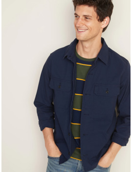 Built In Flex Ripstop Canvas Shirt Jacket For Men by Old Navy