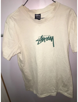 Basic White And Turquoise Stussy Shirt by Stussy  ×