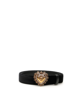 Nwt Dolce & Gabbana Devotion Belt Be1352 Aa868 Nero   Authentic by Dolce & Gabbana