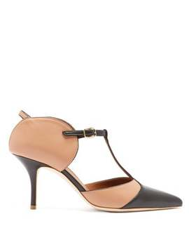 Imogen T Bar Leather Mules by Malone Souliers