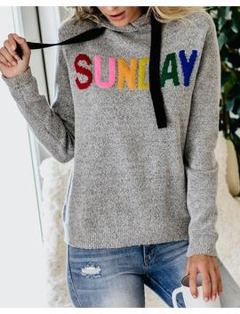 Rainbow Sunday Knit Hoodie by Vici
