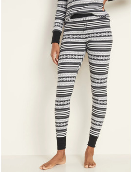 Mid Rise Thermal Knit Pajama Pants For Women by Old Navy