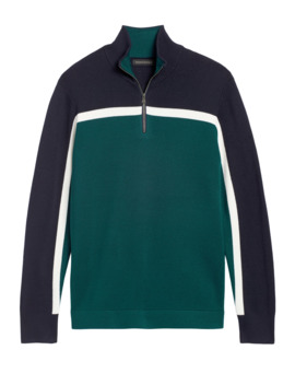 Color Block Half Zip Sweater by Banana Repbulic