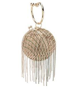 Camelia Crystal Embellished Cage Clutch by Rosantica By Michela Panero