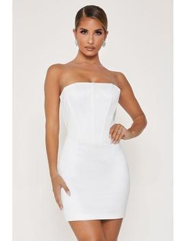 Tina Strapless Corset Dress   Ivory by Meshki