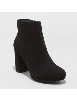 Women's Daisy Microsuede Platform Bootie   A New Day™ by A New Day