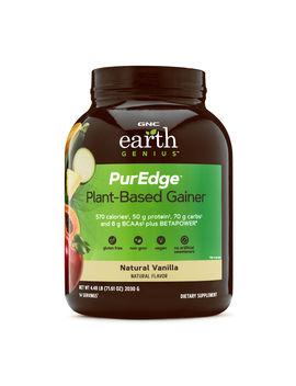 Gnc Earth Genius Pur Edge Plant Based Gainer, Natural Vanilla, 4.48 Lbs by Gnc