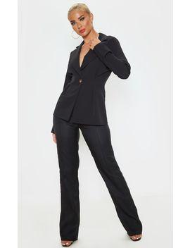 Black Pinched Waist Blazer by Prettylittlething
