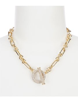 Gold Pave Toggle Collar Necklace by Lauren Ralph Lauren