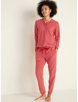 Micro Performance Fleece Pajama Set For Women by Old Navy