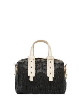Patrizia Luca Two Tone Geo Tile Mini Duffle Bag by Patrizia Luca