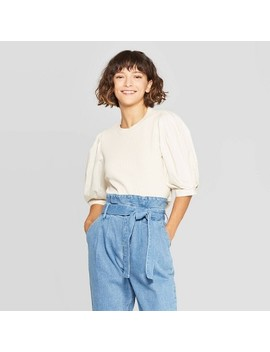 "<Span><Span>Women's Puff Elbow Sleeve Crewneck T Shirt  </Span><Br><Span>Who What Wear</Span></Span><Span Style=""Position: Fixed; Visibility: Hidden; Top: 0px; Left: 0px;"">…</Span> by Shirt"