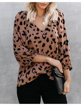 Dax Leopard Blouse by Vici