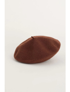 19 Wool Beret, Brown by Olive