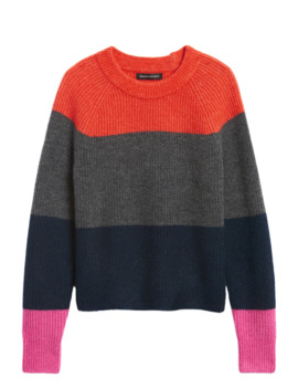 Aire Color Blocked Sweater by Banana Repbulic