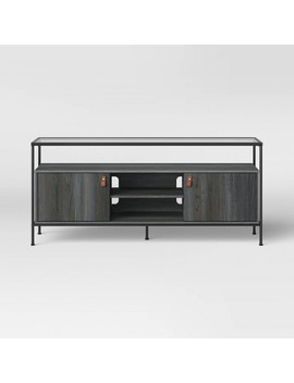 Fulham Glass Top Media Stand With Storage Black   Project 62™ by Shop This Collection