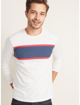 Soft Washed Chest Stripe Tee For Men by Old Navy
