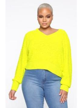 All In The Same Sweater   Neon Yellow by Fashion Nova