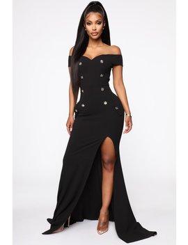 Evening Attraction Off Shoulder Maxi Dress   Black by Fashion Nova