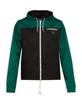 Colour Block Nylon Gabardine Jacket by Prada