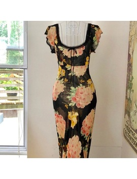 Betsey Johnson Vintage Flower Gown by Betsey Johnson