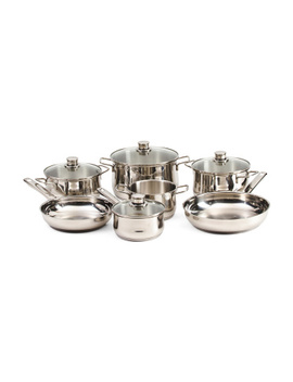 11pc Stainless Steel Diadem Plus Cookware Set by Tj Maxx