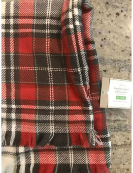 "Pottery Barn Hamilton Plaid Holiday Pillow Cover Lodge New 20"" Red Multi by Pottery Barn"