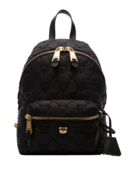 Black Quilted Teddy Bear Motif Backpack by Moschino