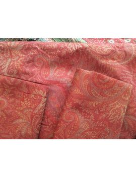 Set Of 3 Pottery Barn Red Series Italian Jacquard Euro Pillow Shams Paisley Nwot by Pottery Barn