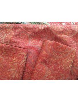 Set Of 3 Pottery Barn Red Series Italian Jacquard Euro Pillow Shams Paisley Nwot by Pottery Barn