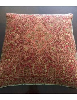 Pottery Barn Pillow Cover Red/Autumn Orange, 100% Wool Front/100% Cotton Back by Pottery Barn