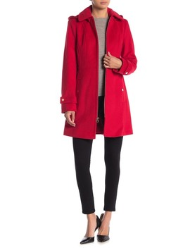 Removable Hood Zip Front Coat by Michael Michael Kors
