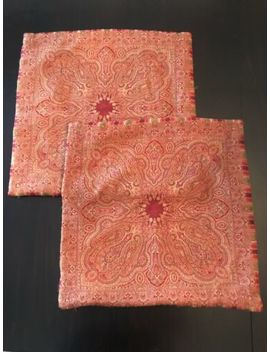 Pottery Barn Red Pillow Shams Set Of 2 by Pottery Barn