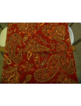 """Pottery Barn Red Beaded Jacquard 24"""" Wool Pillow Cover I Quit by Pottery Barn"""