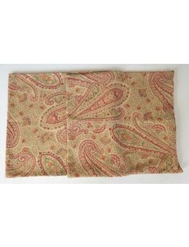 Pottery Barn Beige Red Green Paisley Floral Sham Set 17 X 19 by Pottery Barn