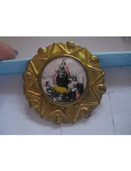 Antique Religious Tin Pin With C Clasp Mother And Child by Etsy
