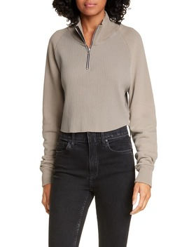 Beijing Half Zip Crop Pullover by Cotton Citizen