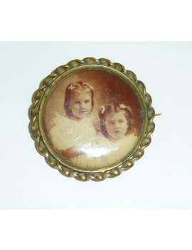 Victorian Mourning C Clasp Brooch Pin Photo Picture Kids Girls by Etsy