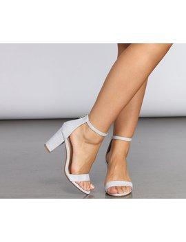 Sparkle Step Lurex Block Heels by Windsor