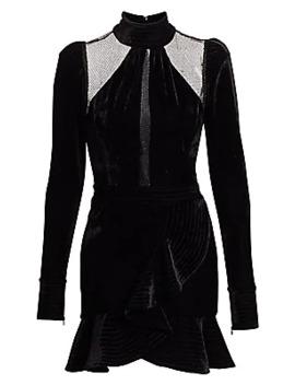 Velvet & Lurex Mini Dress by Pat Bo