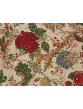 Pottery Barn Wells Palampore Floral Trees Red/Green/Yellow/Blue King Duvet by Pottery Barn