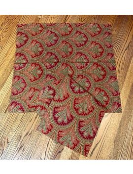 Pottery Barn Two Marcelle Paisley Euro Shams ~ Red, Green Gold   Beautiful! by Ralph Lauren