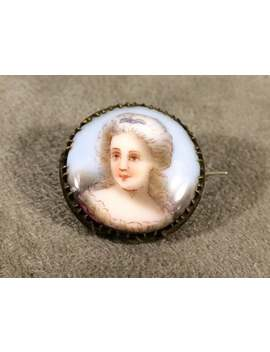 Antique Portrait Brooch by Etsy