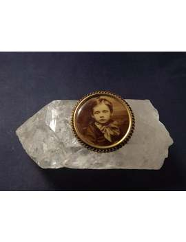 Antique Victorian Mourning Child Young Boy Photograph Picture Pin by Etsy