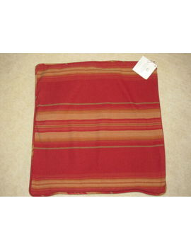 Pottery Barn Harrison Rideau Stripe Red 20 Inch Square Pillow Covers by Pottery Barn