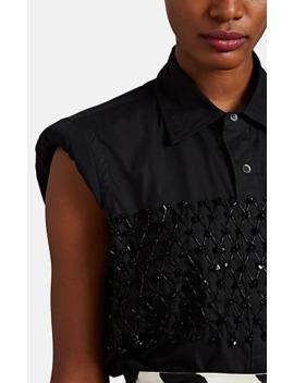 Beaded Padded Shoulder Shirt by Dries Van Noten