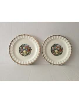 A Pair Of The Victorian Courting Couple Scene Porcelain Plates by Etsy