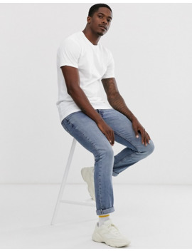 Pull&Bear Longline T Shirt In White by Pull&Bear